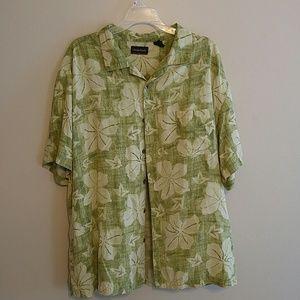 Ocean Pacific XXL Mens Hawaiian Shirt Button Down